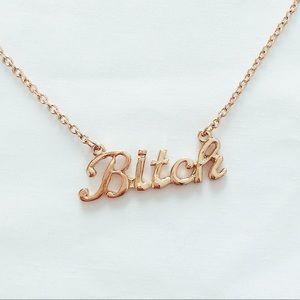 bitch necklace